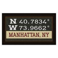 Framed Giclée Manhattan, NY Coordinates Print Wall Art