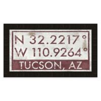 Tuscon Arizona Coordinates Framed Wall Art