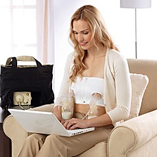 Medela® Easy Expression™ Bustier Pumping Bra in White