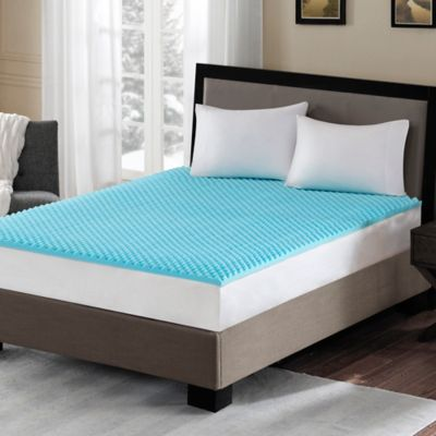 Sleep Philosophy Flexapedic 1 5 Inch Gel Memory Foam Twin Mattress Topper In Blue