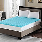 Sleep Philosophy Flexapedic 1.5-Inch Gel Memory Foam Queen Mattress Topper in Blue