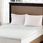 Sleep Philosophy Flexapedic 2-Inch Memory Foam King Mattress Topper in White