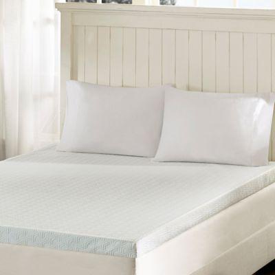 sleep philosophy flexapedic 3inch memory foam full mattress topper in white