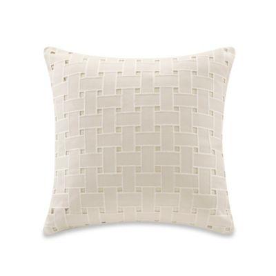 Echo Design Throw Pillows : Echo Design Ishana Square Throw Pillow in Ivory - Bed Bath & Beyond