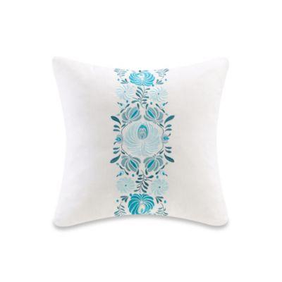 Echo Design Throw Pillows : Echo Design Crete Floral Square Throw Pillow in White - Bed Bath & Beyond