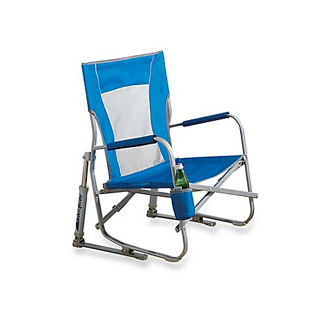 Elegant Beach Rocking Chair In Blue