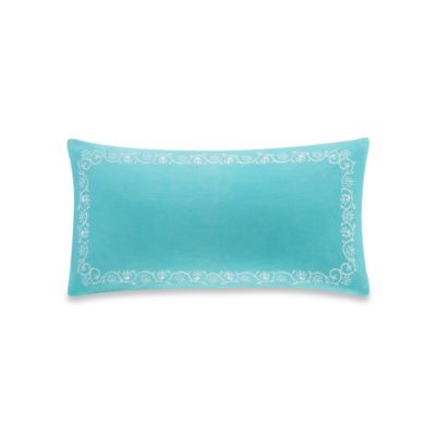 Echo Design Madira Border Oblong Throw Pillow In Teal
