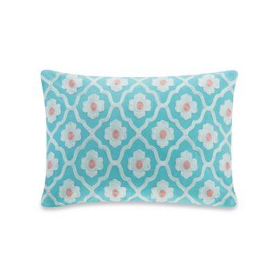 Echo Design Throw Pillows : Echo Design Madira Oblong Throw Pillow in Teal - Bed Bath & Beyond