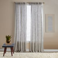 Aspire Ikat 95-Inch Rod Pocket/Back Tab Window Curtain Panel in Natural