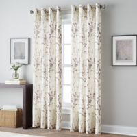 Botanical 108-Inch Grommet Top Window Curtain Panel in Amethyst
