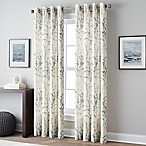 Botanical Print 63-Inch Grommet Top Window Curtain Panel in Blue