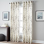 Botanical Print 95-Inch Grommet Top Window Curtain Panel in Charcoal