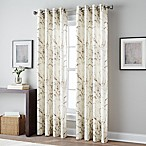 Botanical Print 84-Inch Grommet Top Window Curtain Panel in Spice