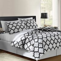 VCNY Galaxy 6-Piece Reversible Twin XL Comforter Set in Black/White