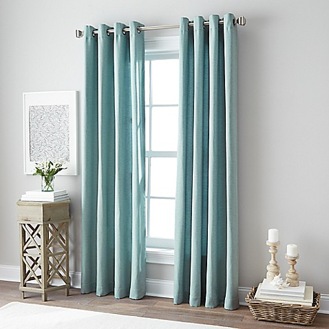 botanical grommet top window curtain panel bed bath amp beyond 85724