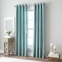 Botanical 63-Inch Grommet Top Window Curtain Panel in Blue