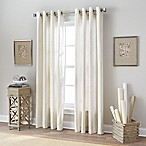 Botanical 84-Inch Grommet Top Window Curtain Panel in Natural
