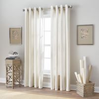 Botanical 108-Inch Grommet Top Window Curtain Panel in Natural