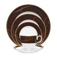 Noritake® Golden Wave Chocolate 5-Piece Place Setting
