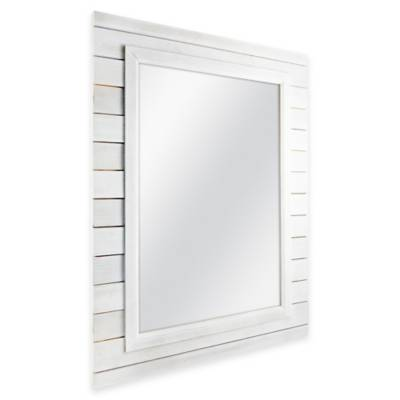 MCS Industries White Plank-Style Rectangular Mirror - Bed Bath & Beyond