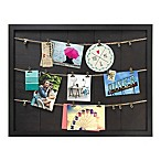 Marrone 7-Photo Rope & Clip Collage Wood Frame in Dark Brown