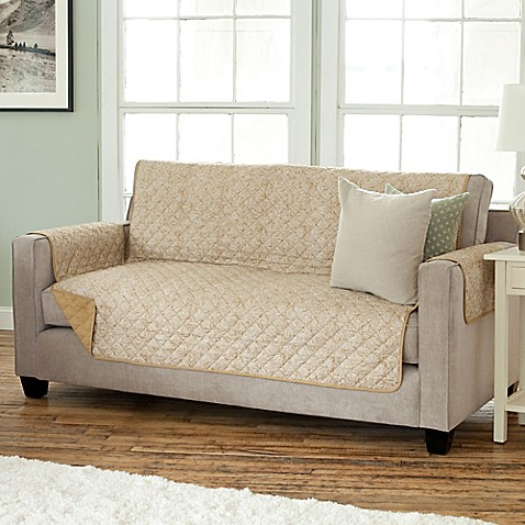 Luxe Home Printed Reversible Sofa Protector Bed Bath