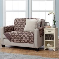Adalyn Collection Reversible Loveseat-Size Furniture Protectors in Lattice Print/Chocolate