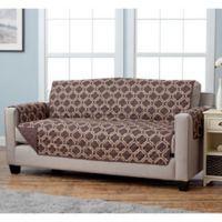 Adalyn Collection Reversible Sofa-Size Furniture Protectors in Lattice Print/Chocolate