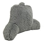 Warmly Shaggy Faux-Fur Backrest Pillow in Charcoal
