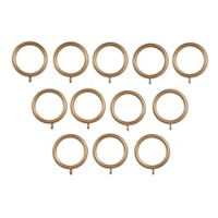Classic Home Metal Rings in Antique Gold (Set of 12)