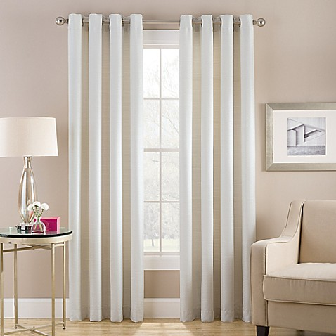Buy Cheshire 108 Inch Grommet Top Lined Window Curtain Panel In White From Bed Bath Beyond