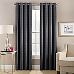 Cheshire 84-Inch Grommet Top Lined Window Curtain Panel in Charcoal