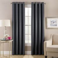 Cheshire 63-Inch Grommet Top Lined Window Curtain Panel in Charcoal