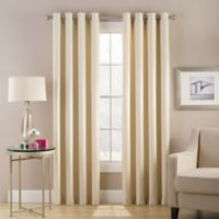 Cheshire 108-Inch Grommet Top Lined Window Curtain Panel in Ivory