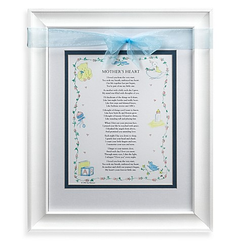 Mother's Heart Frame in Blue