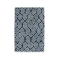 Kaleen Casablanca Trellis 8-Foot x 11-Foot Area Rug in Blue