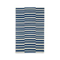Kaleen Nomad Stripes 2-Foot x 3-Foot Accent Rug in Navy