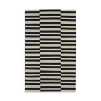 Kaleen Nomad Stripes 2-Foot x 3-Foot Accent Rug in Black