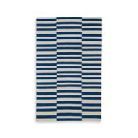 Kaleen Nomad Stripes 3-Foot 6-Inch x 5-Foot 6-Inch Area Rug in Navy