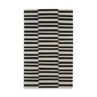 Kaleen Nomad Stripes 3-Foot 6-Inch x 5-Foot 6-Inch Area Rug in Black