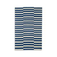 Kaleen Nomad Stripes 5-Foot x 8-Foot Area Rug in Navy