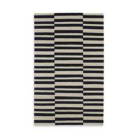 Kaleen Nomad Stripes 8-Foot x 10-Foot Area Rug in Black