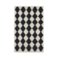 Kaleen Nomad Southwest Diamonds 3-Foot 6-Inch x 5-Foot 6-Inch Area Rug in Black