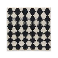Kaleen Nomad Southwest Diamonds 8-Foot x 8-Foot Area Rug in Black