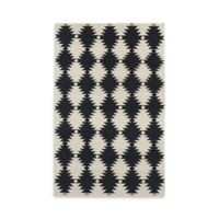 Kaleen Nomad Southwest Diamonds 8-Foot x 10-Foot Area Rug in Black