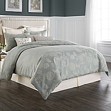 Wamsutta® Chelsea Comforter Set in Sea Glass/Ivory