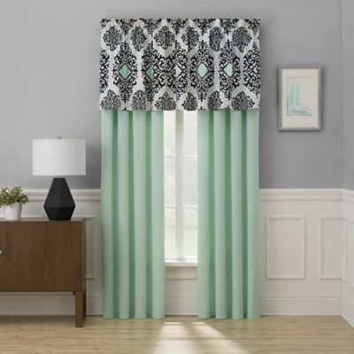 mint green kitchen curtains buy black green window valance from bed bath amp beyond 7525