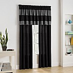 Bryce Window Valance in Black
