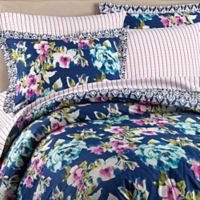 Wander Home Krysten Reversible Full/Queen Duvet Cover Set in Navy