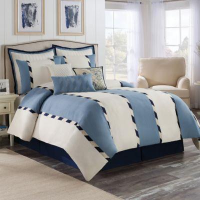 bridge street chatham queen comforter set in bluewhite